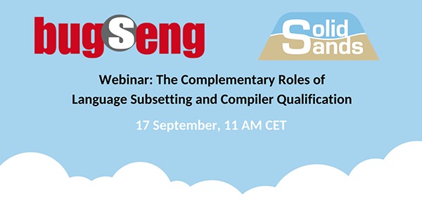 Webinar: Language subsetting and compiler qualification